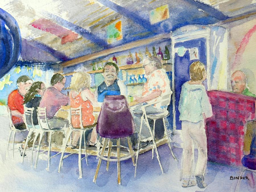 Pepe Painting - Take a seat at Pepes Happy Hour by Diane Binder