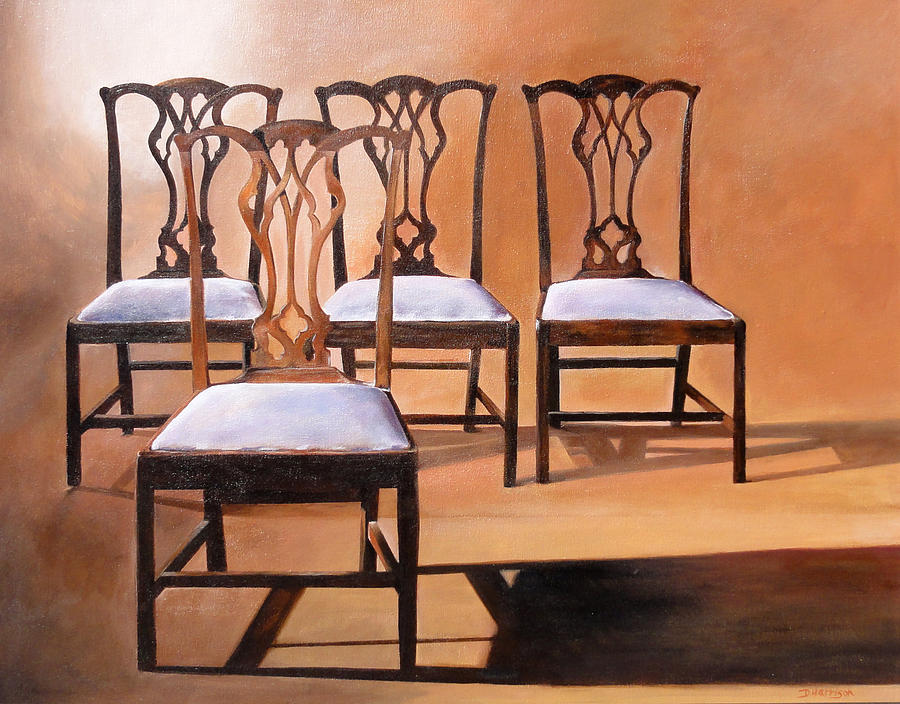 Chippendale Chairs Painting - Take A Seat by Denise H Cooperman