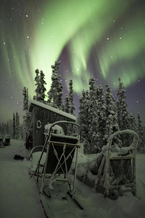 Alaska Photograph - Take A Seat For The Aurora by Ian Johnson