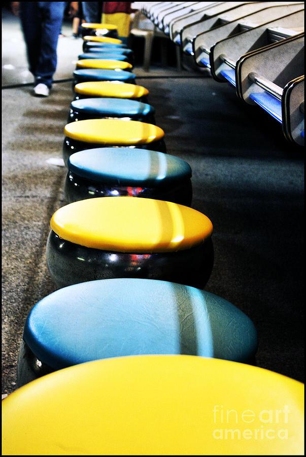 Yellow Photograph - Take A Seat by Lucky LaRue