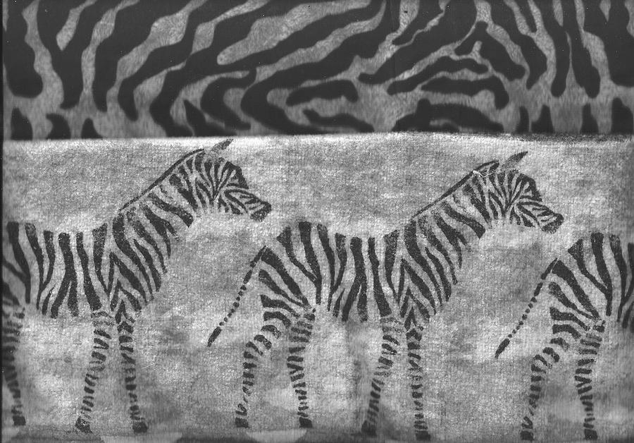 Zebras Mixed Media - Take A Walk On The Wild Side by Anne-Elizabeth Whiteway