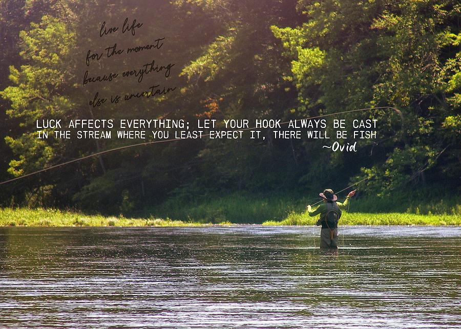River Photograph - Take Me Home Quote by JAMART Photography