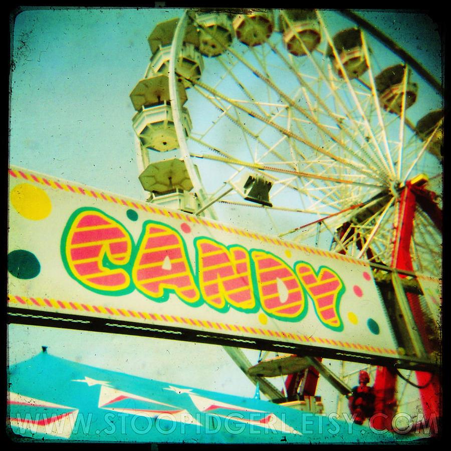 Holga Photograph - Take Me To Candy Land by Kim Ripley