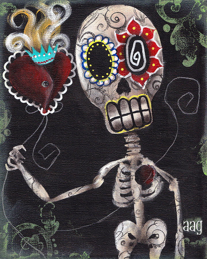 Day Of The Dead Painting - Take My Heart by  Abril Andrade Griffith
