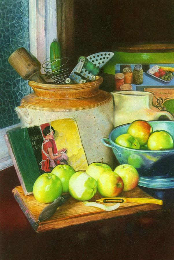 Take Six Apples Painting by Edward Dyas