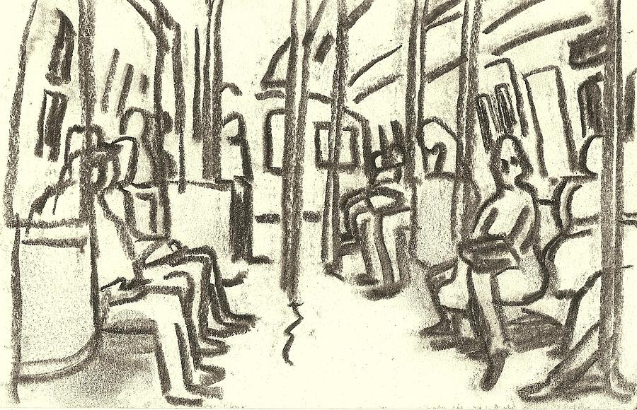Subway Painting - Take The A Train, Nyc by Thor Wickstrom