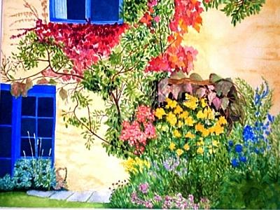 Flowers Painting - Take The Garden Path by Robin MacKenzie