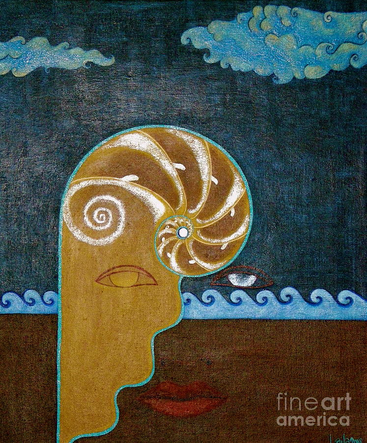 Ocean Painting - Take The Pearl Leave The Shell  by Laila Espinoza