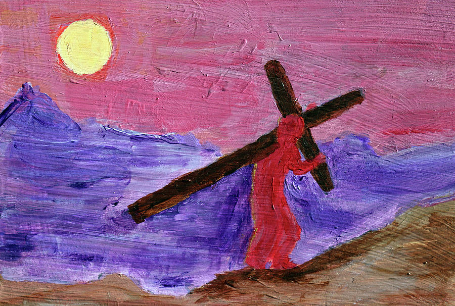 Cross Painting - Take Up Your Cross by Day Williams