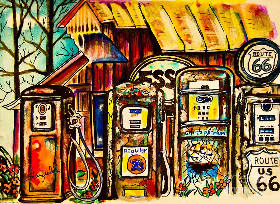 Take Your Pick On Route 66 Painting