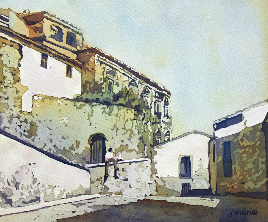 Spain Painting - Taking A Break by Jenny Armitage