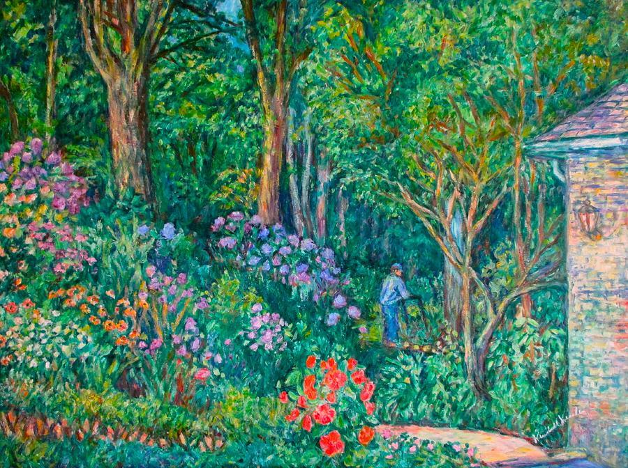 Flowers Painting - Taking a Break by Kendall Kessler