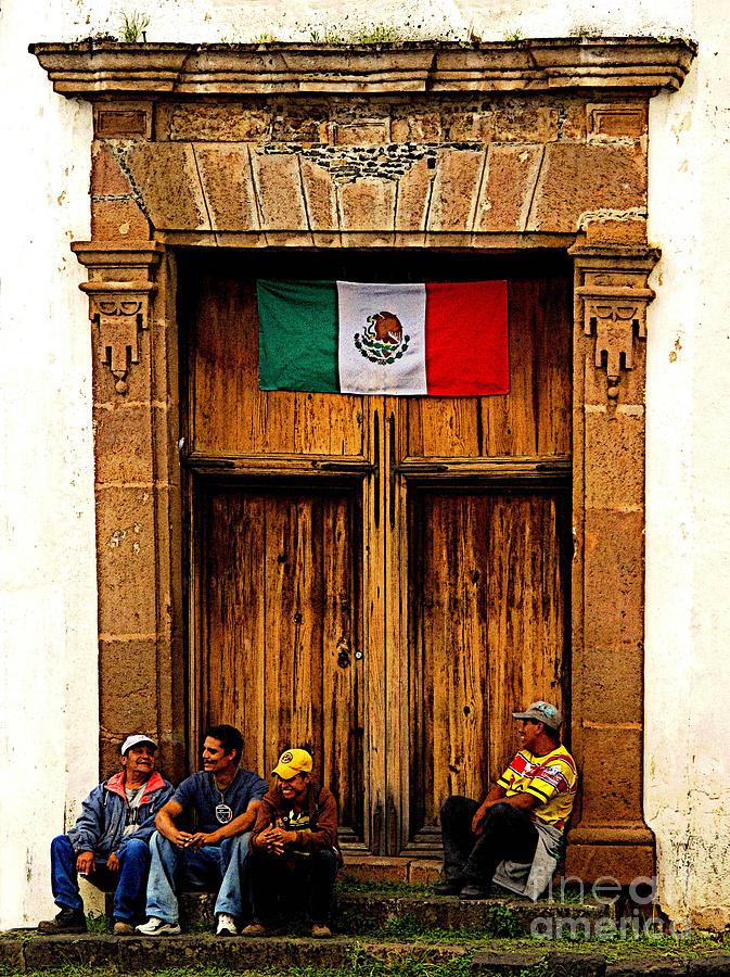 Patzcuaro Photograph - Taking A Break by Mexicolors Art Photography
