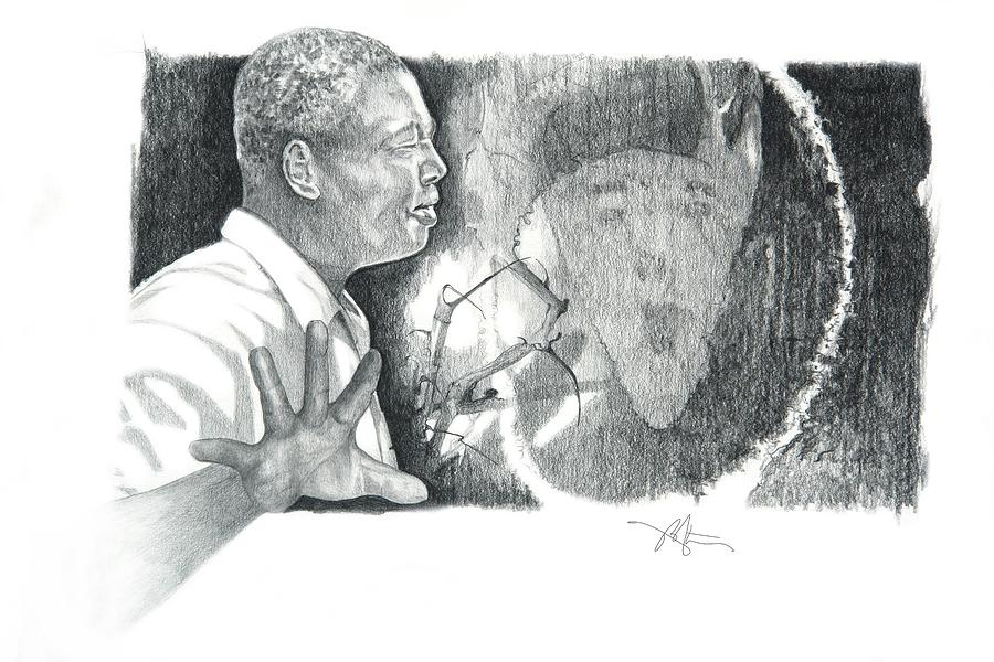 Pencil Drawing Drawing - Taking A Stand by Bob Salo