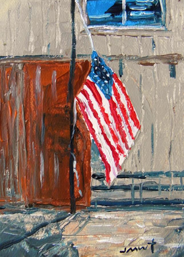 Flag Painting - Taking Down by John Williams