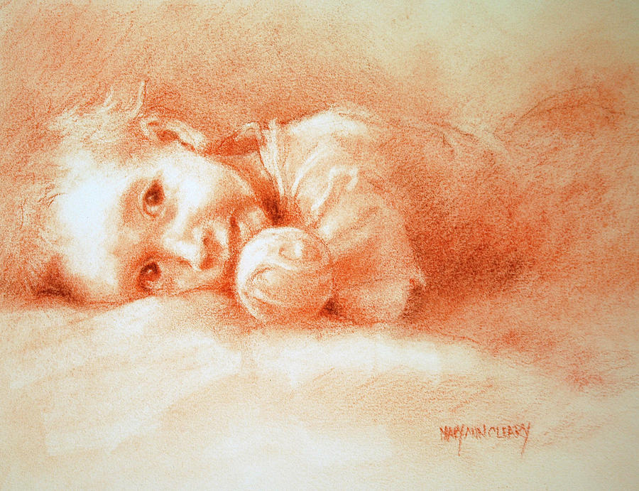Drawing Drawing - Taking Five by MaryAnn Cleary