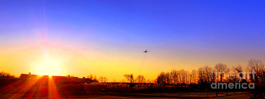 Jet Photograph - Taking Off by Olivier Le Queinec