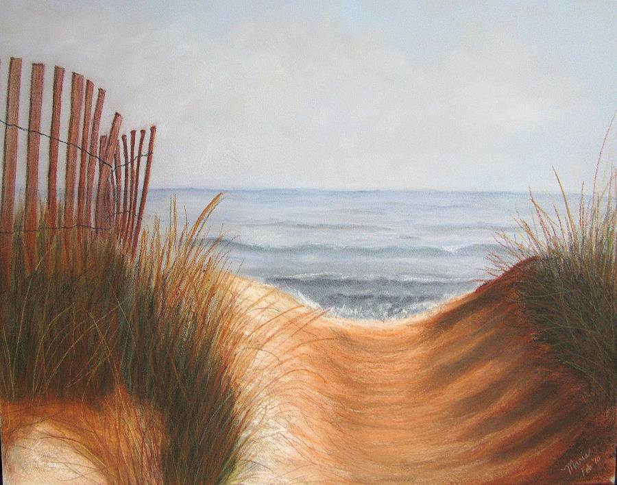 Beach Pastel - Taking The Path by Maris Sherwood