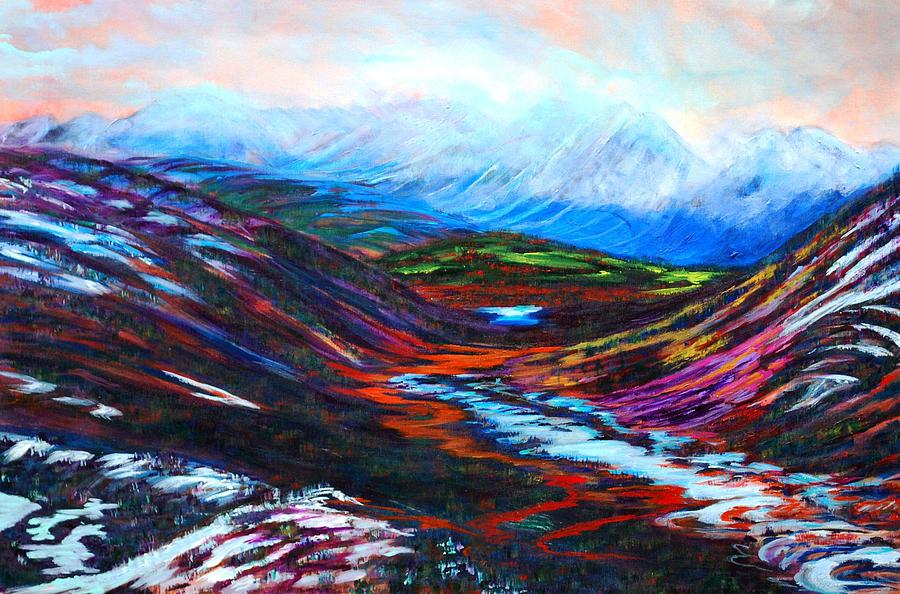 Taku Painting - Taku River Headwaters by Faye Dietrich