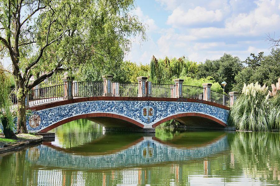 Spain Photograph - Talavera de la Reina, Spain, Park Bridge by Curt Rush