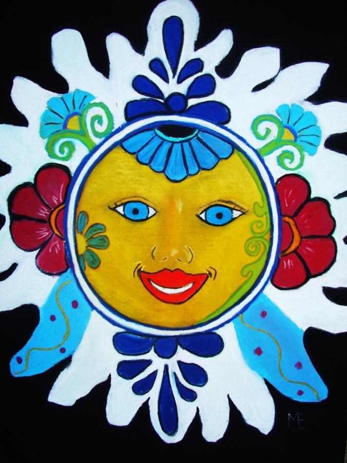 Sun Painting - Talavera Sun by Melinda Etzold