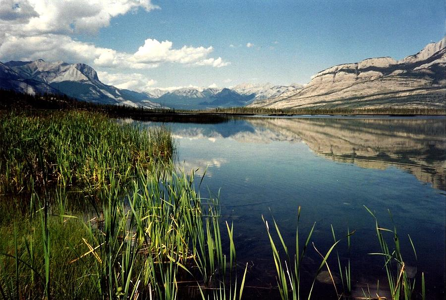 Mountains Photograph - Talbot Lake by Shirley Sirois