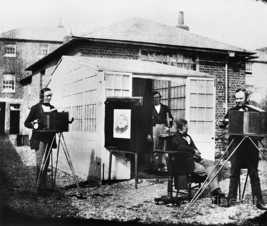 1845 Photograph - Talbotype, 1845 by Granger