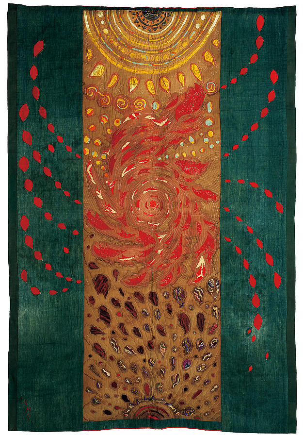 Japanese Tapestry - Textile - Tale of a Tiny Universe by Fumiko Kato