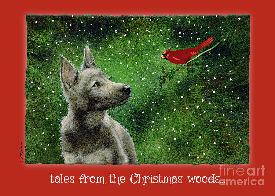 Will Bullas Painting - tales from the Christmas woods... by Will Bullas