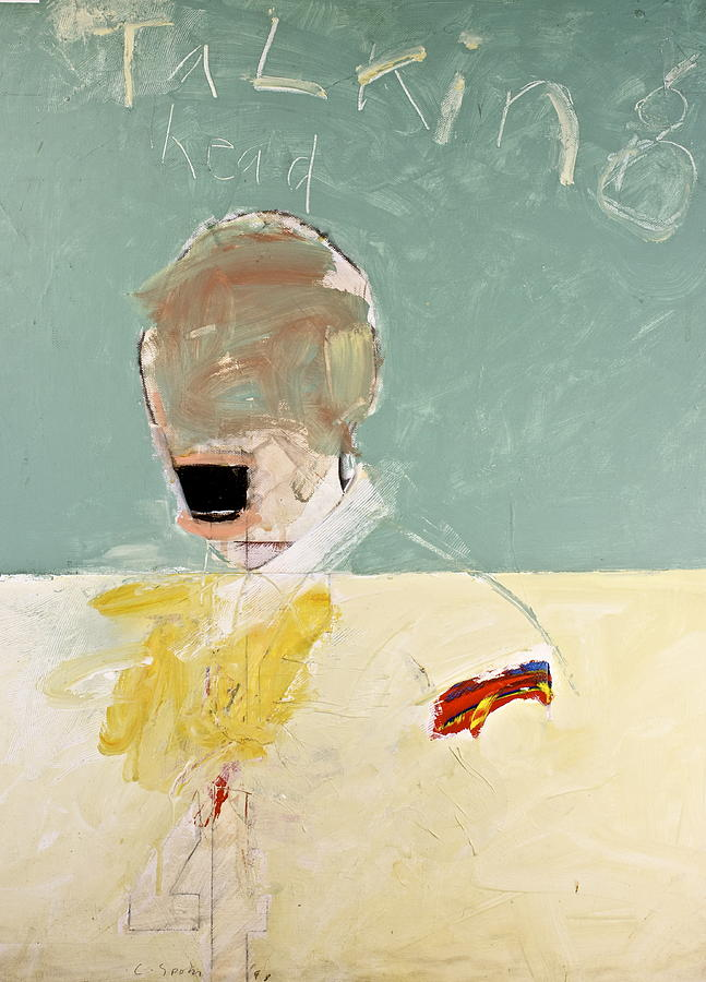 Abstract Paintings Painting - Talking Head by Cliff Spohn