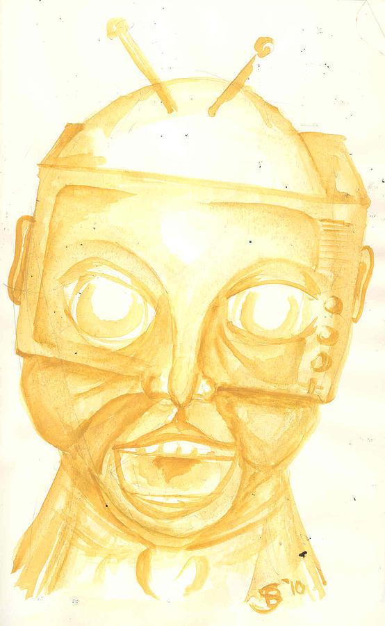 Television Painting - Talking Head by Stuart Bracewell