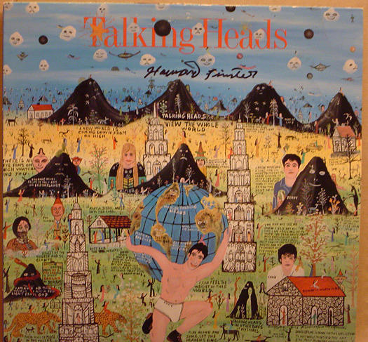 Howard Finster Mixed Media - Talking Heads Little Creatures Artist Signed Record Album Package by Howard Finster