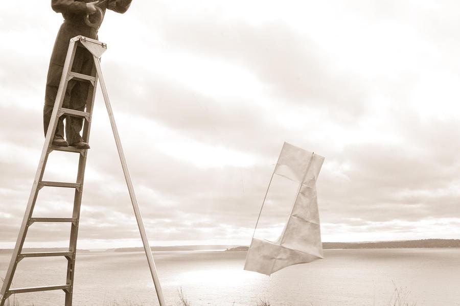 Ladder Photograph - Talking It Over by Teresa Morani