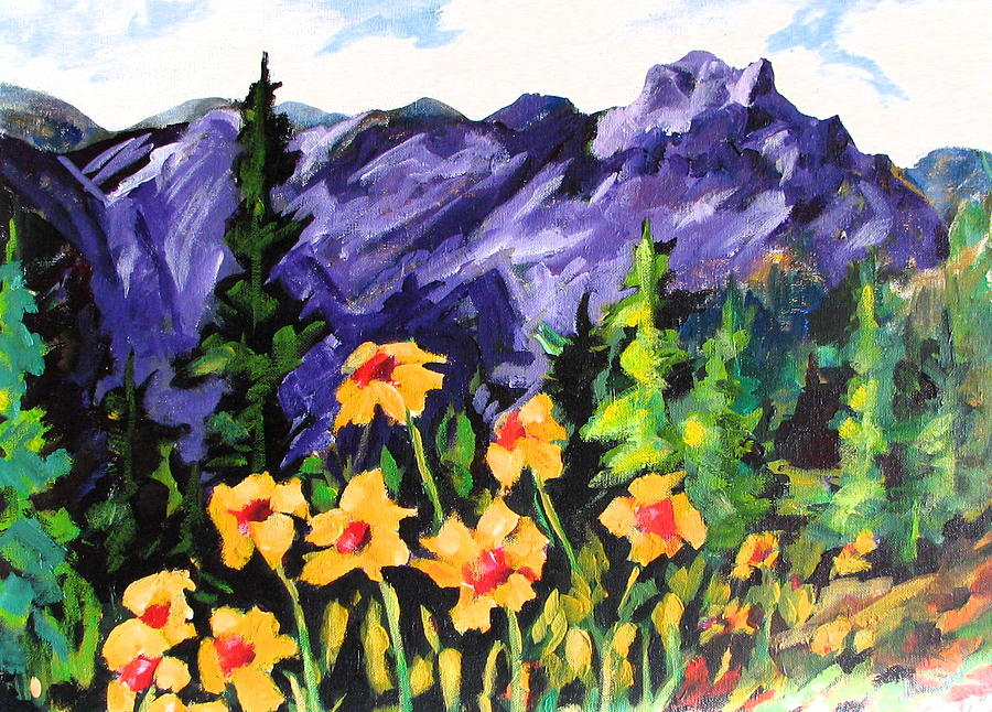 Landscape Painting - Talking Susans by Gordon Davis