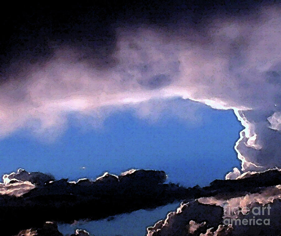 Clouds Painting - Talking To God by Methune Hively