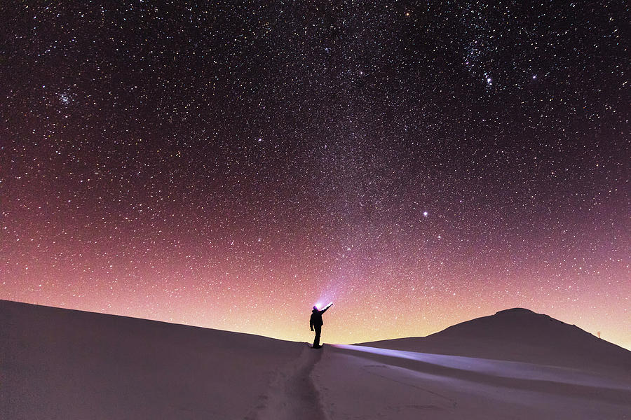 Balkan Mountains Photograph - Talking To The Stars by Evgeni Dinev