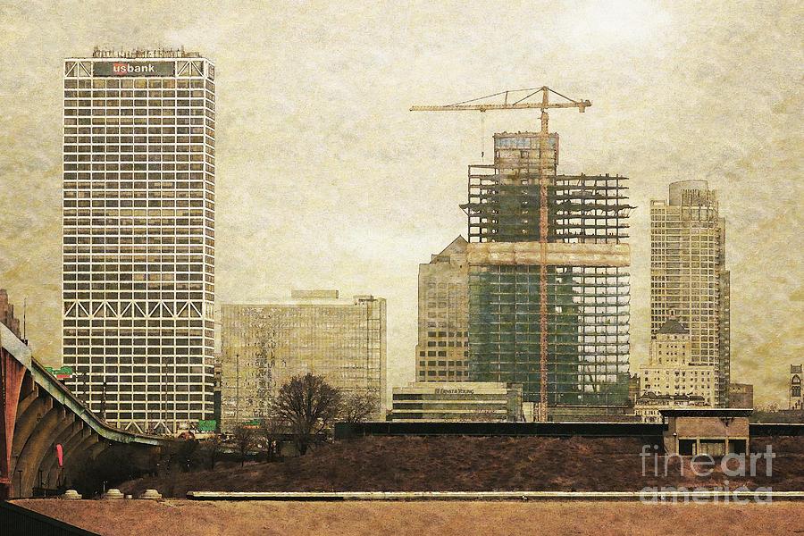 Milwaukee Digital Art - Tall Buildings by David Blank
