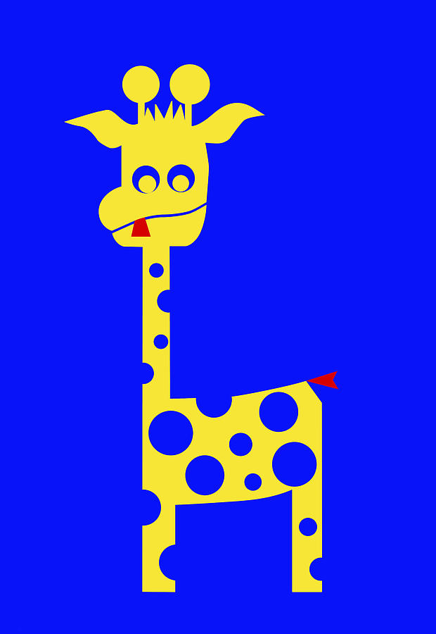 Giraffe Digital Art - Tall Charlie by Asbjorn Lonvig