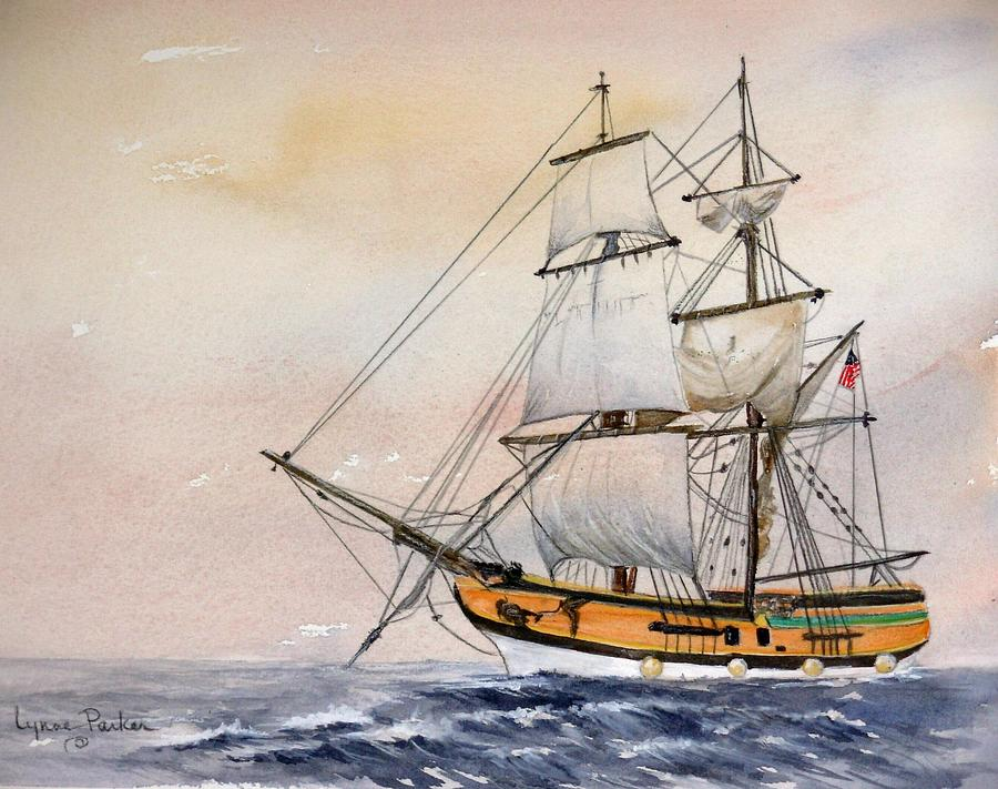 Lady Washington Painting - Tall Masted Ship by Lynne Parker