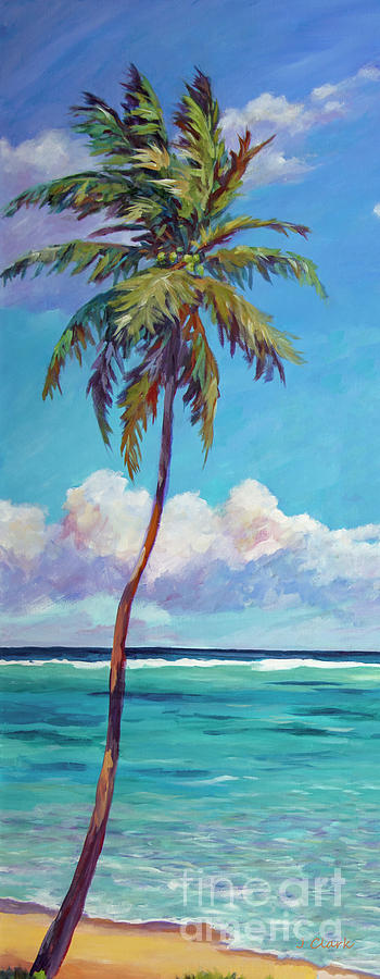 Palm Painting - Tall Palm Tree by John Clark