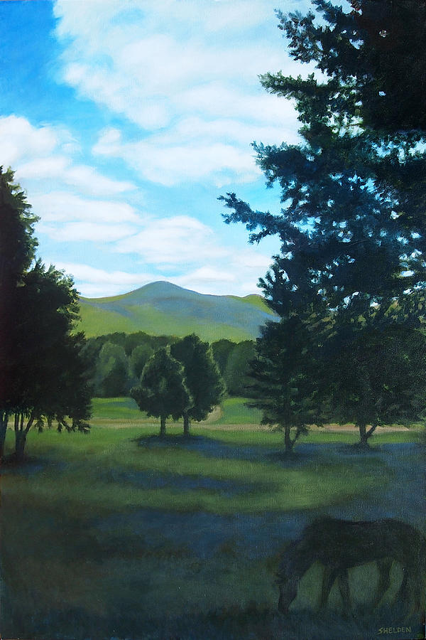 Mountains Painting - Tall Pines Surround Your Green Hills by Suzanne Shelden