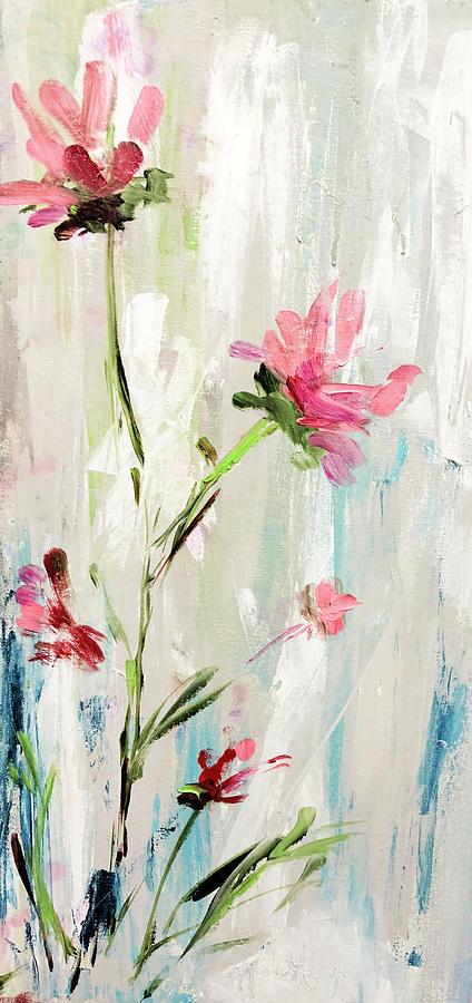 Tall Pink Wildflowers by Karen Ahuja