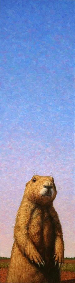 Prairie Dog Painting - Tall Prairie Dog by James W Johnson