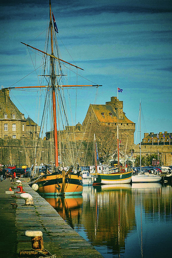 Tall Ship in Saint Malo by Elf EVANS