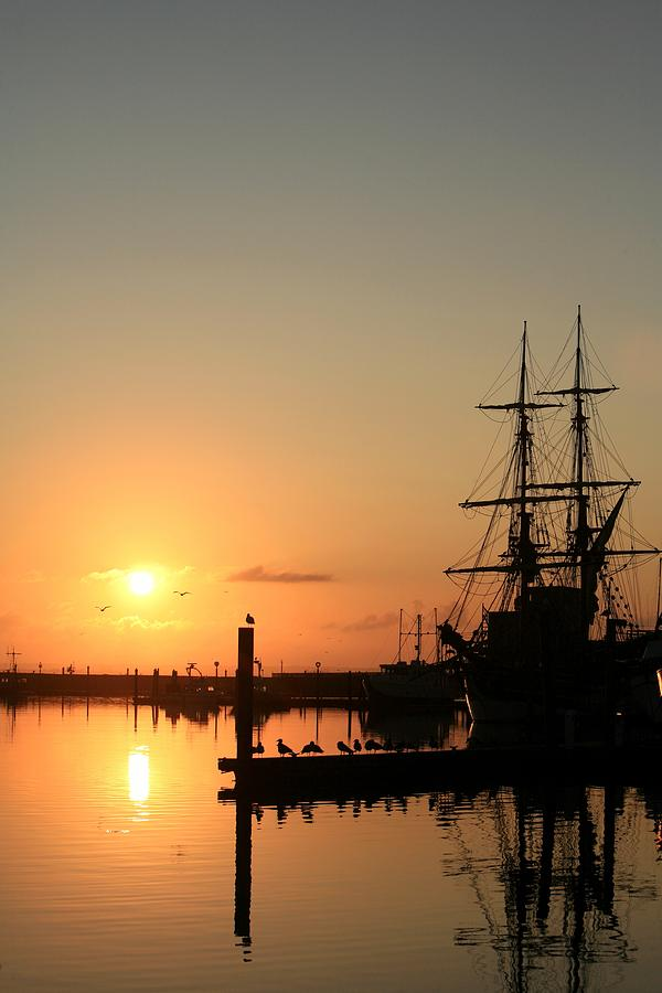 Ship Photograph - Tall Ship Lady Washington At Dawn by Mike Coverdale