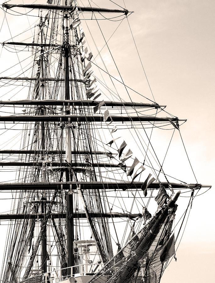 Cape Fear River Photograph - Tall Ship by Paul Boroznoff