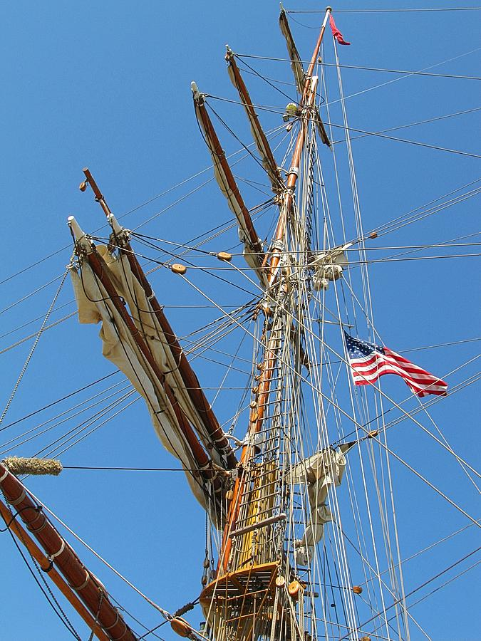 Wooden Photograph - Tall Ship Series 8 by Scott Hovind