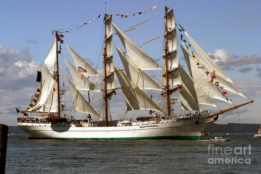 Tall Ships Photograph - Tall Ship by Robert  Torkomian