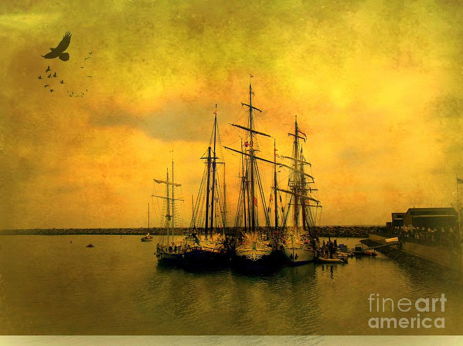 Boats Photograph - Tall Ships Of Dana Point by Kevin Moore