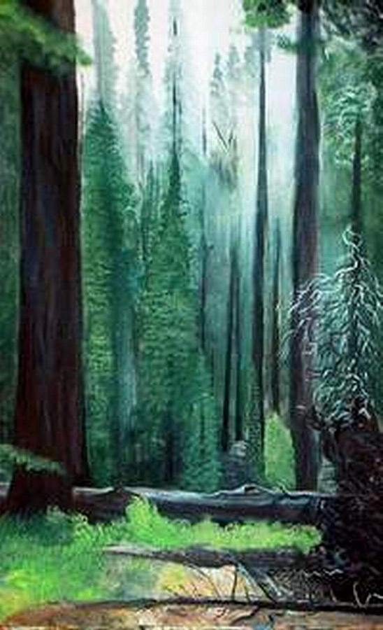 Landscape Painting - Tall Trees by Julie Lamons